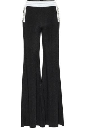 Balmain Mujer Pantalones anchos y harén - Pantalones flared de punto