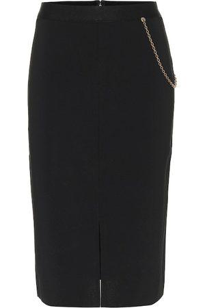 Givenchy Falda midi de punto adornada