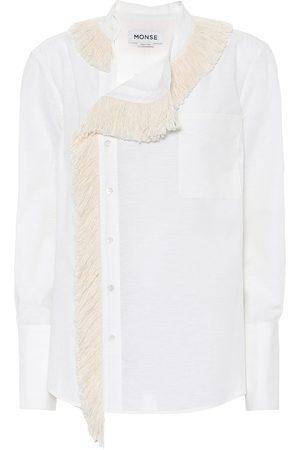 MONSE Camisa de lino y algodón con flecos