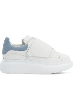 Alexander McQueen | Niña Sneakers De Piel Con Correas /marino 25