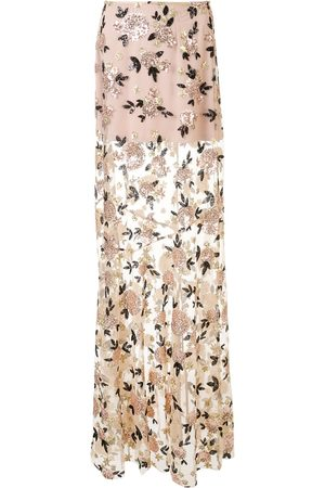 Macgraw Floral sequin maxi skirt