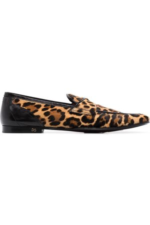 Dolce & Gabbana Mocasines con motivo de leopardo Erice