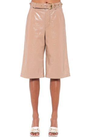 DODO BAR OR | Mujer Shorts Bermuda De Piel Efecto Cocodrilo 40