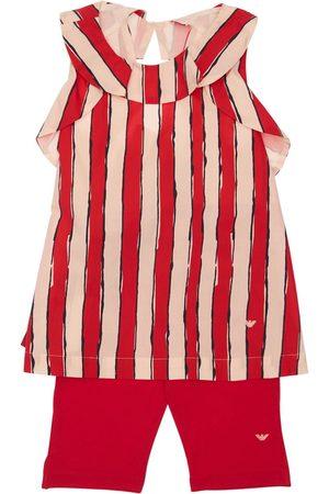 Emporio Armani | Niña Camiseta Y Leggings De Popelina De Algodón /beige 8a