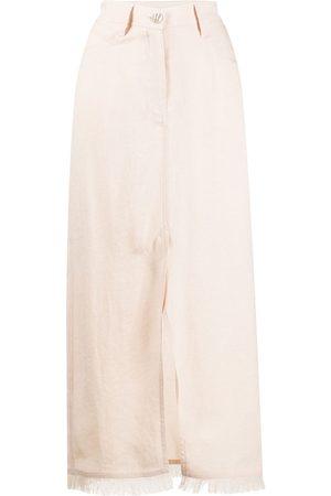 Nanushka Falda larga con bolsillo decorado