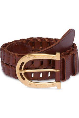 Miu Miu Cinturón con hebilla con forma de herradura
