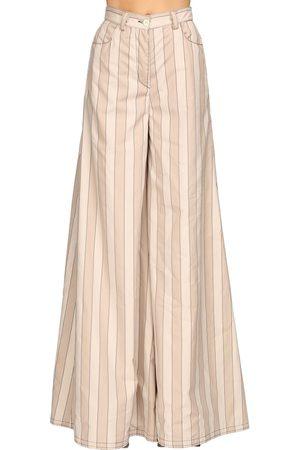 SUNNEI | Mujer Pantalones Palazzo Maxi De Algodón /grey Xs