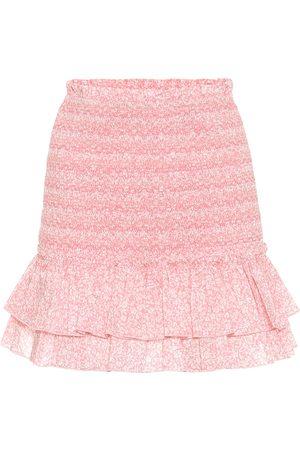 JONATHAN SIMKHAI Minifalda Sydney de algodón floral