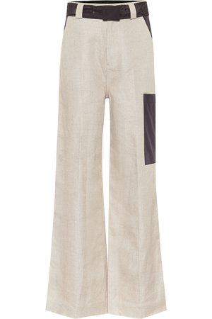Ganni Pantalones anchos de lino