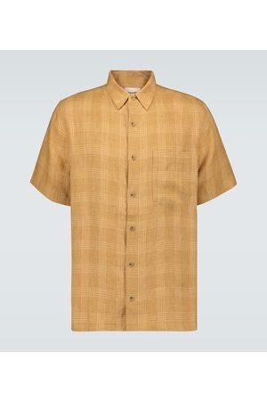 Nanushka Camisa Adam de lino de cuadros