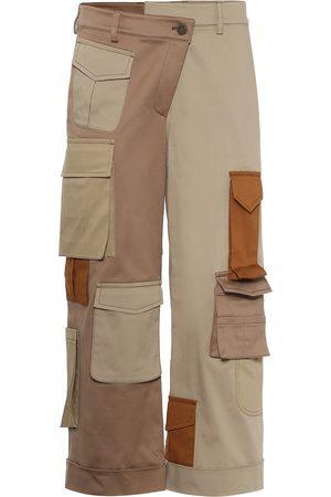 MONSE Pantalones de algodón deconstruidos