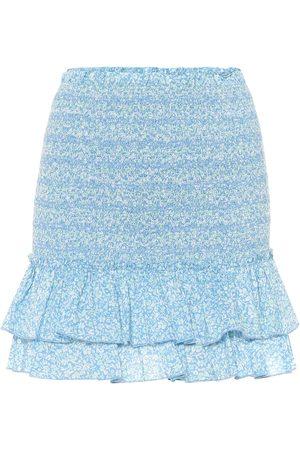 JONATHAN SIMKHAI Minifalda de algodón floral