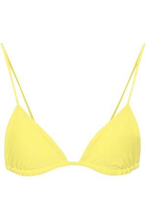 Jade Swim Top de bikini Via triangular