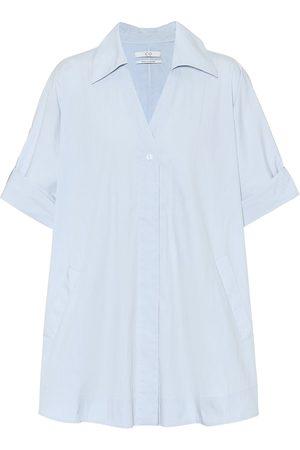 CO Camisa de popelín mezcla de algodón