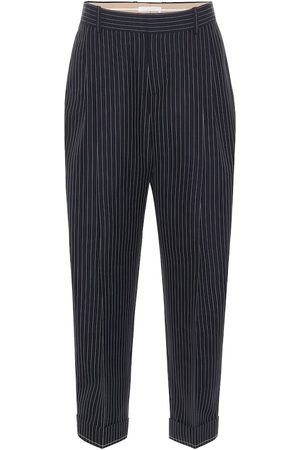 Chloé Pantalones de lana virgen de rayas