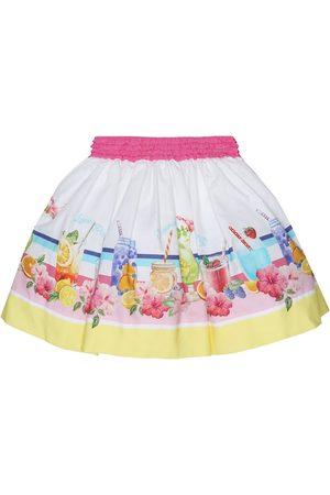MONNALISA Falda de algodón estampada