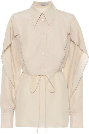 Stella McCartney Blusa de georgette de seda