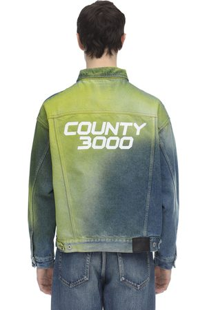"MARCELO BURLON COUNTY OF MILAN | Hombre Chaqueta De Denim ""county 3000"" S"