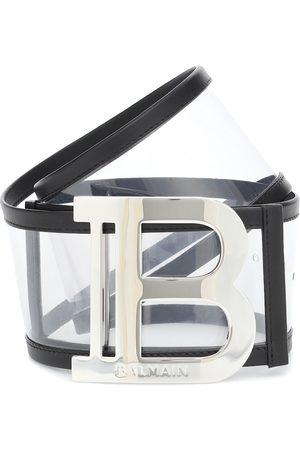 Balmain Cinturón de PVC con logo