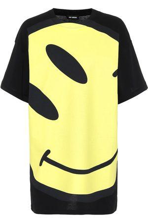RAF SIMONS Camiseta de punto fino de algodón