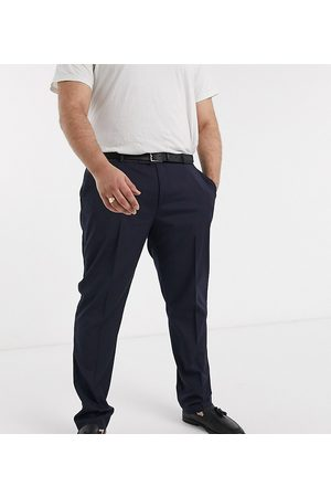 ASOS Pantalón de traje ajustado estilo esmoquin en azul marino de