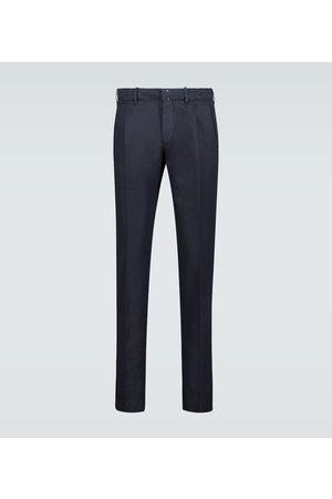 Incotex Pantalones de lino y algodón