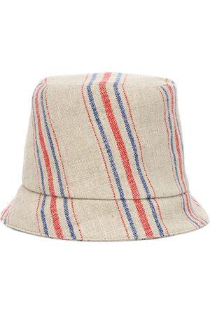 REJINA PYO Sombrero Connor de lino a rayas
