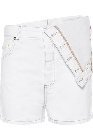 Y / PROJECT Shorts de jeans de tiro alto