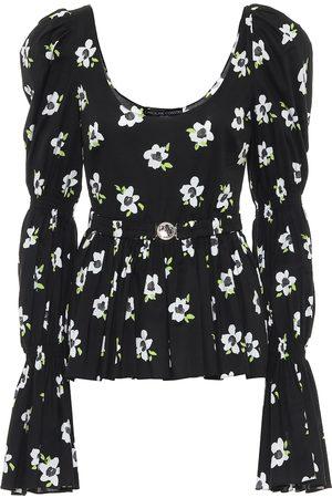 Caroline Constas Top Raine de algodón floral