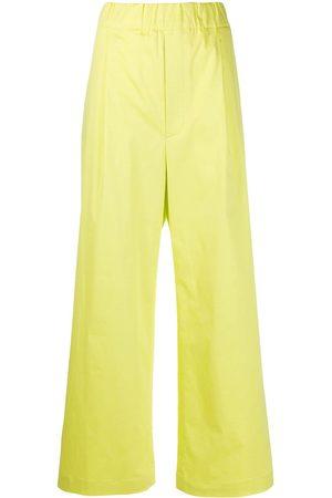 JEJIA Pantalones anchos elásticos