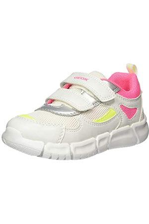 Geox B Flexyper Girl B, Zapatillas para Bebés, (White/Fuchsia C1441)