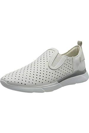 Geox D Hiver A, Zapatillas sin Cordones para Mujer, (White C1000)