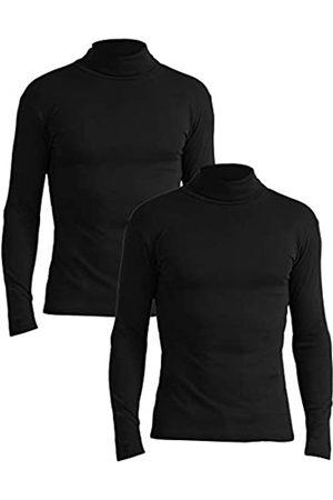 Lower East Slim Fit Rollkragen Shirt Camiseta cuello alto, Schwarz), XX-Large (Talla del fabricante: 2XL)
