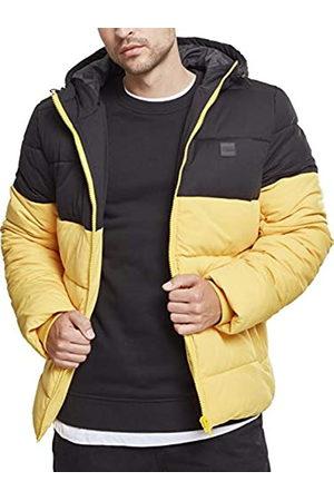 Urban classics Hooded 2-Tone Puffer Jacket, Chaqueta para Hombre, Gelb (Chromeyellow/Blk 01437)