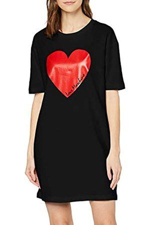 Love Moschino Short Sleeve Jersey Dress_Heart & Italic Logo Print Vestido