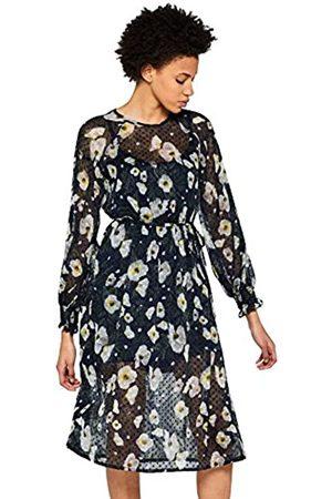 FIND Vestido de Flores y Gasa Mujer