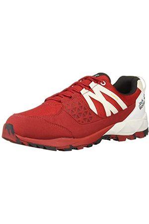Jack Wolfskin Cascade Hike Texapore Low M Wasserdicht, Zapatos Rise Senderismo para Hombre, (Red/White 2107)