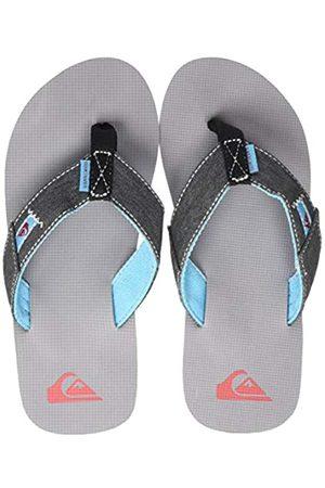 Quiksilver Molokai Abyss Youth, Zapatos de Playa y Piscina para Niños, (Black/Grey/Black Xksk)