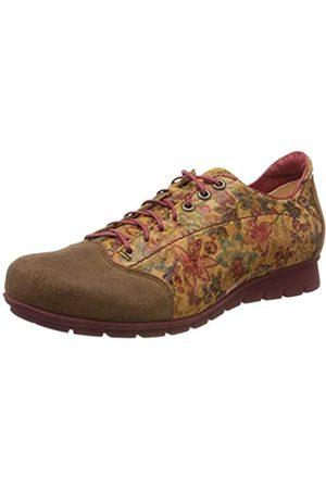Think! 686073_Menscha, Zapatos de Cordones Derby para Mujer, (Cognac/Kombi 56)