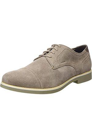 Geox U Danio A, Zapatos de Cordones Derby para Hombre, (Taupe)