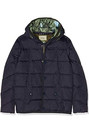 Scotch&Soda Shrunk Quilted Puffer Jacket with Double Hood Construction In Mid L Chaqueta