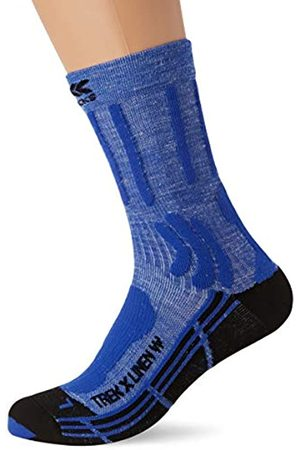 X Socks Trek X Linen Women Socks, Mujer, Lake Blue/Opal Black