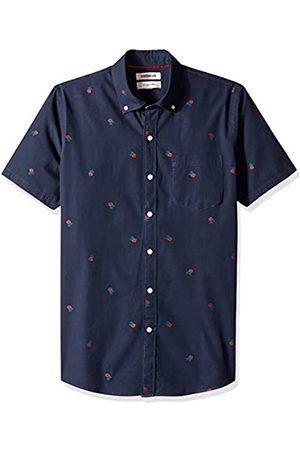 Goodthreads Marca Amazon - - Camisa dobby de manga corta de corte entallado para hombre