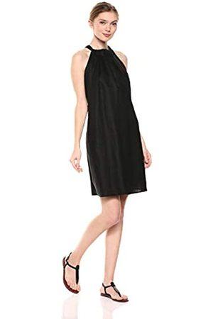 28 Palms Marca Amazon - – Vestido recto, de lino 100 % con escote halter y estampado hawaiano para mujer
