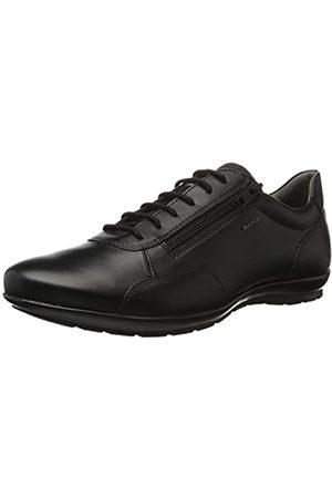 Geox Hombre Con cordones - UOMO Symbol A, Zapatos de Cordones Oxford para Hombre, (Black)