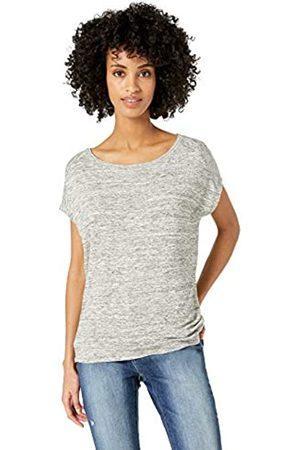 Daily Ritual Marca Amazon - : camiseta de manga dolman corta, de algodón terry y con nudo en la espalda para mujer.