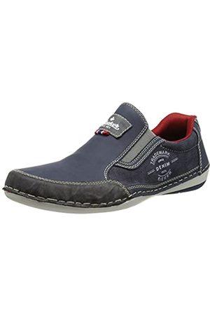 Rieker Hombre Calzado formal - B9251, Mocasines para Hombre, Blau (Rauch/Denim/Denim / 47)