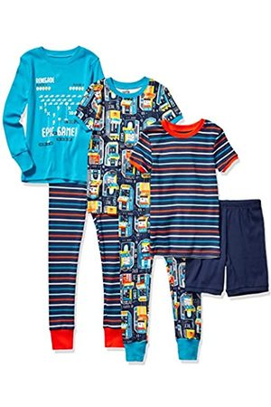 Spotted Zebra Unisex infantil 6-piece Snug-fit Cotton Pajama Set