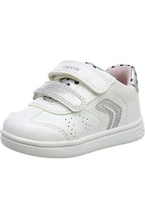 Geox B Djrock Girl A, Zapatillas para Bebés, (White/Silver C0007)