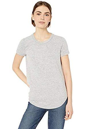 Daily Ritual Marca Amazon - - Camiseta cómoda de punto de manga corta con capucha y faldón para mujer